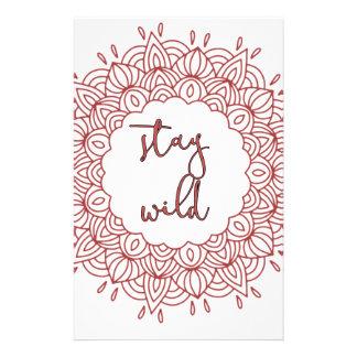 Stay Wild Boho Gypsy Design Stationery