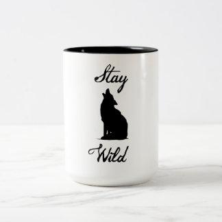 """""""Stay Wild"""" Coyote Mug"""