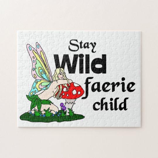 Stay Wild Faerie Child Puzzle
