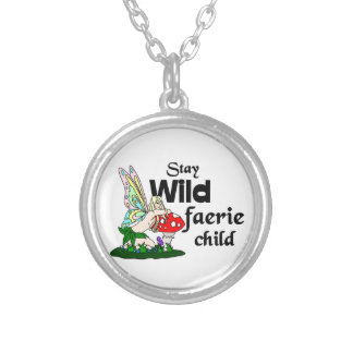 Stay Wild Faerie Child Silver Plated Necklace