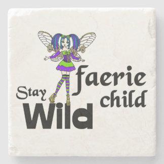 Stay Wild Faerie Child Steampunk Coaster