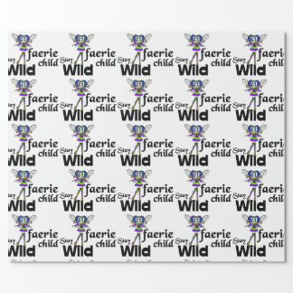 Stay Wild Faerie Child Steampunk Wrapping Paper
