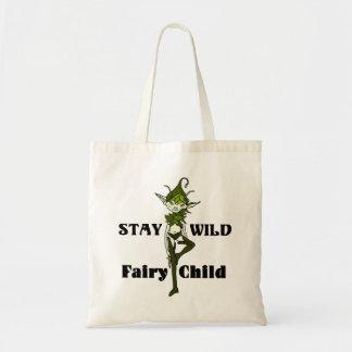 Stay Wild Faerie Child Tote Bag