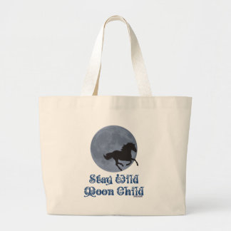 Stay Wild Moon Child Large Tote Bag