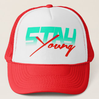 Stay Young (red) Trucker Hat