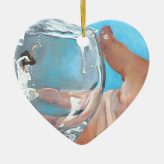 Staying Afloat Ceramic Heart Decoration