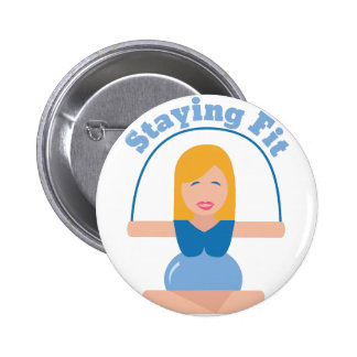 Staying Fit 6 Cm Round Badge