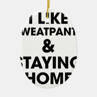 Staying Home Ceramic Oval Decoration