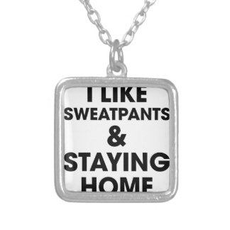 Staying Home Silver Plated Necklace