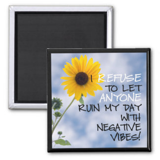 Staying Positive With Sunflower and Sky Photo Magnet
