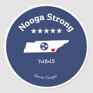 Staying Strong in the 'Noog Classic Round Sticker