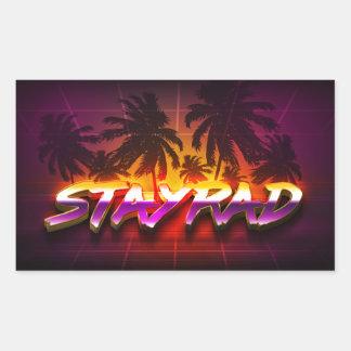 StayRad 80s Rectangular Sticker