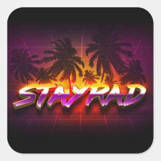 StayRad 80s Square Sticker
