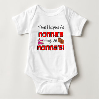 Stays At Nonna's Baby Bodysuit