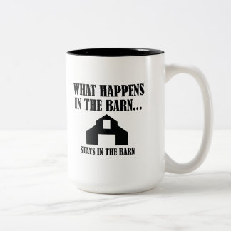 Stays In The Barn Two-Tone Coffee Mug