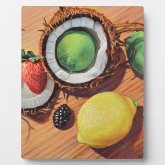 StBerry Lime Lemon Coconut Unity Plaque
