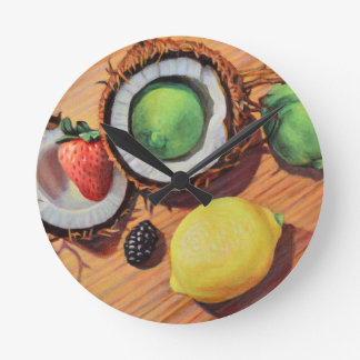 StBerry Lime Lemon Coconut Unity Round Clock