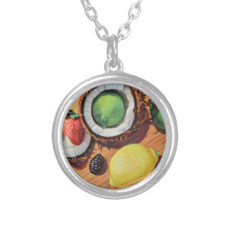 StBerry Lime Lemon Coconut Unity Silver Plated Necklace