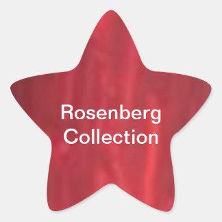 STBX Rosenberg Silver Streak n Rouge Collection Star Sticker