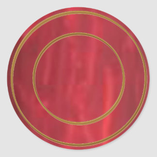 STBX Rosenberg Silver Streak n Rouge Collection Round Sticker
