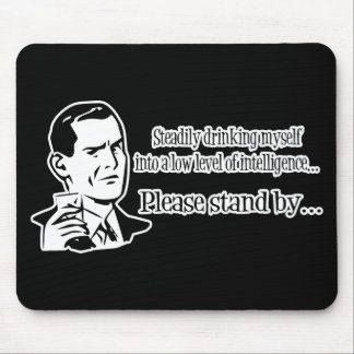 Steadily Drinking Retro Party Guy Mouse Pad