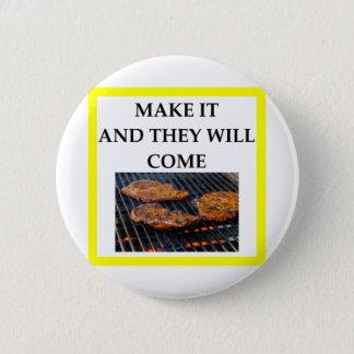 steak 6 cm round badge