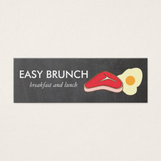 Steak and Eggs Chalkboard Mini Business Card