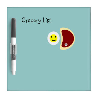 Steak and Eggs Grocery List 4.1 Dry Erase Board