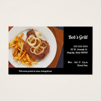 Steak and fries business card