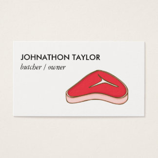 Steak Butcher Business Card