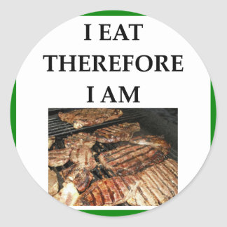 STEAK CLASSIC ROUND STICKER