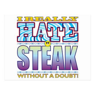 Steak Hate Face Postcard