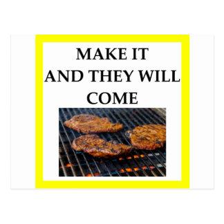 steak postcard