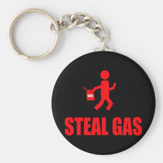 Steal Gas Basic Round Button Key Ring