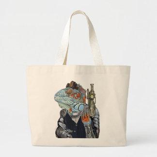 Steam Dragon Sheriff Large Tote Bag