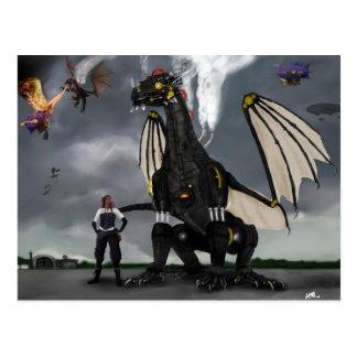 Steam Dragon Wars Postcard