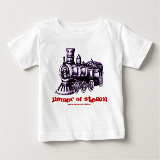 Steam engine baby t-shirt design