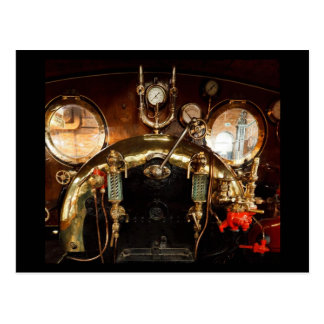 Steam Engine Cab Postcard