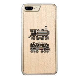 Steam Engine Carved iPhone 7 Plus Case