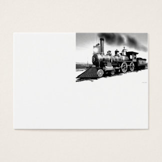 Steam Engine Digital Oil Painting Business Card
