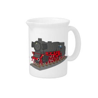 Steam engine drink pitchers
