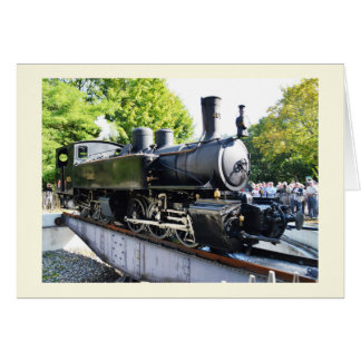 Steam engine, France Card