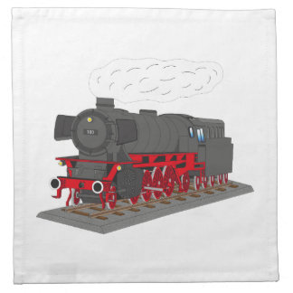 Steam engine napkin