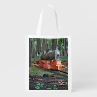 Steam engine reusable grocery bag