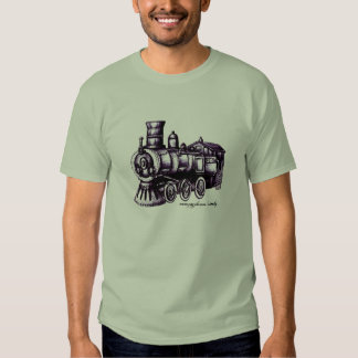 Steam engine t-shirt design