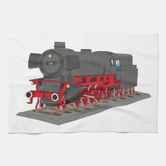 Steam engine tea towel