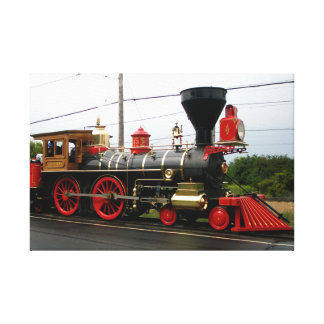 steam engine train canvas print