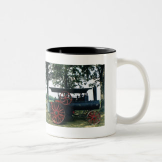 steam engine Two-Tone coffee mug