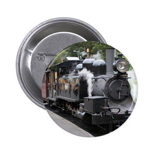 Steam engine, Victoria, Australia Pinback Buttons
