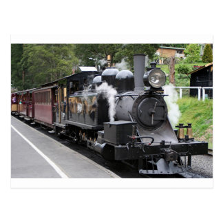 Steam engine, Victoria, Australia Postcard